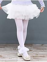 Ballet Dresses Children's Training Cotton Ruffles 1 Piece Short Sleeve Natural Dress