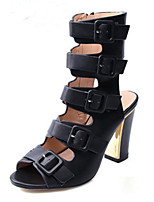 Women's Heels Spring Summer Fall Gladiator Comfort Novelty PU Party & Evening Dress Casual Chunky Heel Buckle Walking