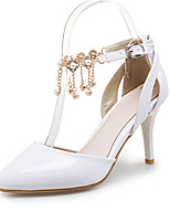 Women's Sandals Spring Summer Fall PU Office & Career Dress Party & Evening Stiletto Heel Pearl White Black Beige Blue Blushing Pink