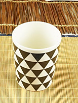 Minimalism Drinkware 300 ml Simple Geometric Pattern Ceramic Coffee Milk Daily Drinkware(Random pattern)