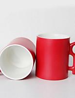 Minimalism Drinkware, 400 ml Simple Geometric Pattern Heat Sensitive Color-changing Ceramic Coffee Milk Daily Drinkware
