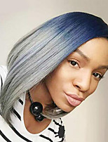 Ombre Color Wigs Synthetic Hair Short Wigs for Women Short Bob Wig Ombre Blue Hair Heat Resistant Wig