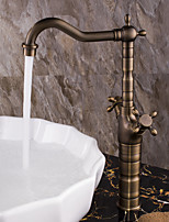 Antique Centerset Widespread with  Ceramic Valve Two Handles One Hole for  Antique Copper , Bathroom Sink Faucet