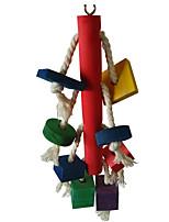 птица Игрушки для птиц Дерево Разноцветный