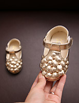 Baby Flats Spring Fall Comfort Leatherette Outdoor Casual Flat Heel Magic Tape Gold White Champagne Walking