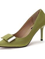 Women's Heels Spring Summer Fall Club Shoes Comfort Fleece Office & Career Party & Evening Dress Stiletto Heel Bowknot Walking