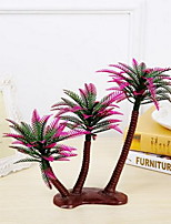 1 Branch Plastic Plants Tabletop Flower Artificial Flowers Coconut Tree