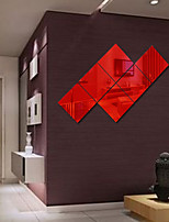 Espelhos Formas Abstracto Adesivos de Parede Autocolantes de Parede de Cristal Autocolantes de Parede EspelhoAutocolantes de Parede