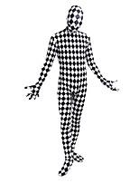 Costumes de Cosplay Cosplay Cosplay de Film Blanc Noir Imprimé A Carreaux Damier Collant/Combinaison Combinaison-pantalonHalloween Noël