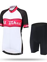 XINTOWN Maillot et Cuissard de Cyclisme Femme Manches courtes VéloRespirable Séchage rapide Résistant aux ultraviolets Perméabilité à