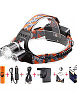 U'King® ZQ-X820#-UK CREE XM-L T6/2*R5 Headlamp 5000LM LED 4 Mode for Camping Hiking Bike Outdoor Red light
