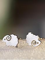 Boucles d'oreille goujon Bijoux Argent sterling Animal Mode Forme d'Animal Argent Bijoux Décontracté Sports 1 paire
