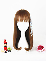 2017 New Fashion 18Inches Short Light Brown Girls Synthetic Anime Cosplay Lolita Wig CS-292B
