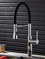 Contemporary Brass Chrome Finish Kitchen Sink Faucet - Black / Green / Orange