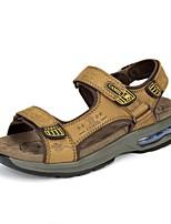 Sandály-Kůže-Pohodlné-PánskéOutdoor Běžné-Plochá podrážka