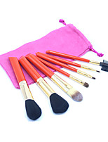 7pc Makeup Brushes Set Synthetic Hair Full Coverage / Portable Wood Face / Eye / Lip Others