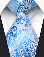 AXL12 Men's Neckties Laight Blue Paisley 100% Silk Business Dress Casual For Men