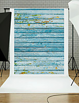 5x7FT Wooden Wall Floor Photography Background Studio Props Blue Board Theme New