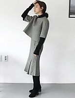Miss Korea purchasing British retro houndstooth jacket + fishtail skirt suit stock