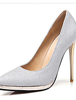 Heels Spring Summer Fall Winter Club Shoes Synthetic Office & Career Party & Evening Dress Stiletto Heel Sequin Silver Gold