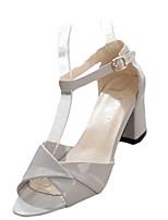 Розовый Белый СерыйПовседневный-Полиуретан-На плоской подошве-Удобная обувь-Сандалии
