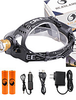 U'King® ZQ-X839GO#7-US 2* CREE XPE Natural/ UV Purple 4Mode Zoomable Multifunction Headlamp Bicycle Light Kit