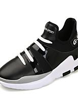 Черный Красный Черно-белый-Для мужчин-Для прогулок Для офиса Повседневный-СатинУдобная обувь Светодиодные подошвы-Спортивная обувь