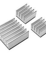 3pcs/Pack Heatsink Heat Dissipation Panel for Raspberry Pi - SILVER