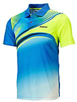 Homme Manches courtes Course / Running Hauts/Tops Respirable Confortable Eté Vêtements de sport Badminton Polyester Ample Couleur Pleine