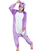 Kigurumi Pajamas Horse Leotard/Onesie Festival/Holiday Animal Sleepwear Halloween Light Purple Flannel Cosplay Costumes ForUnisex Female