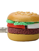 16GB Hamburger Rubber USB2.0 Flash Drive Disk