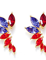 Drop Earrings Crystal Crystal Simple Style Fashion Red Jewelry Daily Casual 1 pair