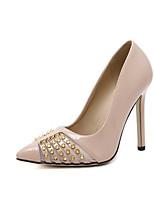 Черный Белый МиндальныйДля праздника Для вечеринки / ужина-Полиуретан-На шпильке-Удобная обувь-Обувь на каблуках