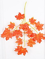1 Branch Plastic Others Wall Flower Artificial Flowers Red Maple