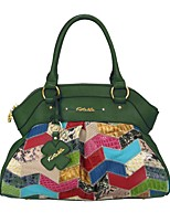 Women Bags All Seasons Cowhide Tote with Bow(s) for Event/Party Casual Military Green