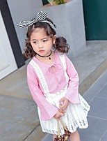 Girls' Casual/Daily Plaid Sets,Cotton Rayon Summer Long Sleeve Clothing Set