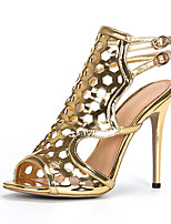 Women's Heels Spring Summer Fall Club Shoes Gladiator Patent Leather Wedding Party & Evening Dress Stiletto Heel Buckle