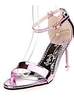 Розовый Серебристый ЗолотистыйПовседневный-Полиуретан-На плоской подошве-Удобная обувь-Обувь на каблуках