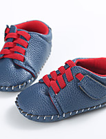 Baby Flats Spring Fall First Walkers Leatherette Outdoor Casual Low Heel Lace-up White Navy Blue Dark Brown Walking