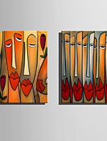Abstrato Pessoas Moderno,1 Painel Tela Vertical Impressão artística Decoração de Parede For Decoração para casa