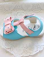 Baby Flats Summer First Walkers Leatherette Outdoor Casual Low Heel Magic Tape White Blue Pink Walking