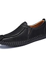 Для мужчин Туфли на шнуровке Удобная обувь Мокасины Светодиодные подошвы Натуральная кожа Лето Осень ПовседневныеУдобная обувь Мокасины