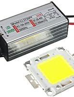 1pc 30w led chip cms avec alimentation du pilote étanche dc20-40v