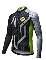Mysenlan Cycling Jersey Men's Long Sleeve Bike Breathable Quick Dry Jersey Polyester Spring Summer Fall/Autumn