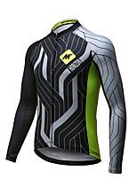 Mysenlan Camisa para Ciclismo Homens Manga Comprida Moto Respirável Secagem Rápida Camisa/Roupas Para Esporte PoliésterPrimavera Verão