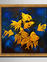 E-HOME® Framed Canvas Art Goldfish in The Water Framed Canvas Print One Pcs
