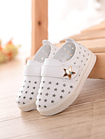 Baby Flats Spring Fall First Walkers PU Outdoor Casual Flat Heel Magic Tape White Light Yellow Pink Walking