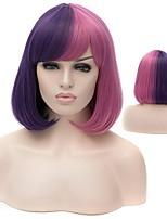 Европа и Соединенные Штаты моды парик прямые волосы голова бобо короткие волосы смешанный голубой высокотемпературный синтетический парик