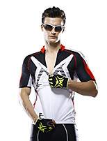 Mysenlan Cycling Jersey Men's Short Sleeve Bike Breathable Jersey Polyester Fashion Summer