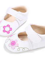 Baby Flats Spring Fall First Walkers Leatherette Outdoor Casual Low Heel Magic Tape White Red Blue Walking